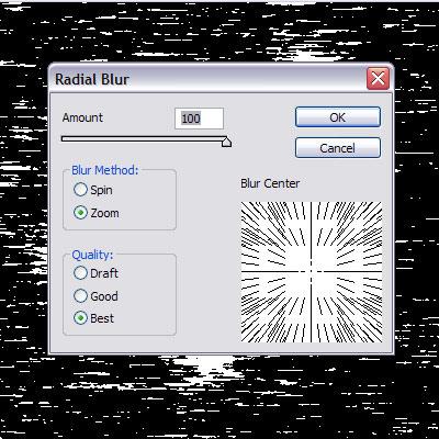 radial blur ფოტოშოპი